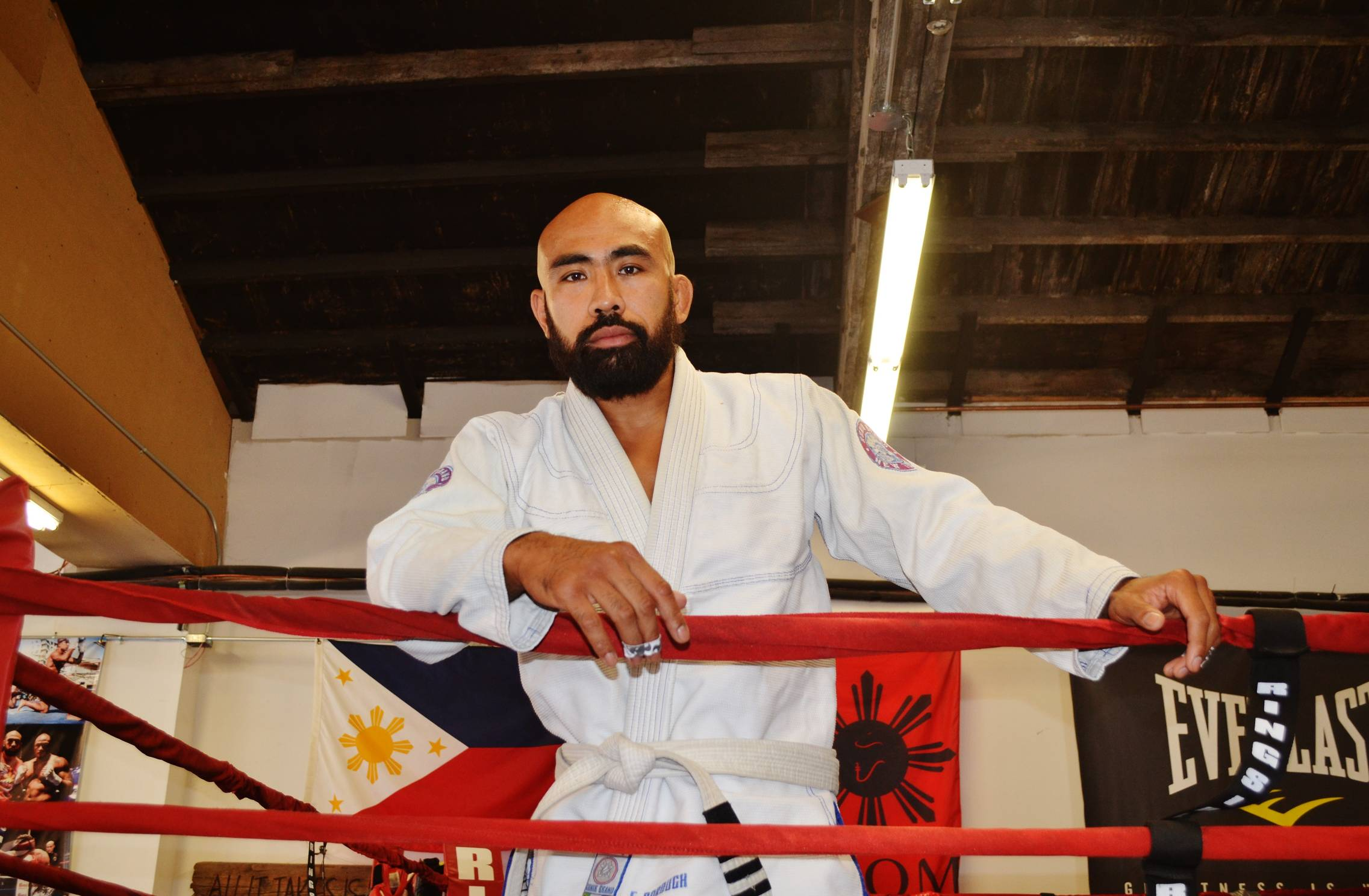 Fighting spirit: Rockaway gym owner, Chris Romulo